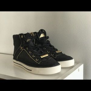 Guess by Marciano Shoes - Brand New: Guess black and gold Onesie sneakers