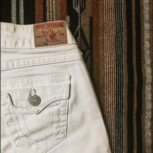 True Religion Denim - White True Religion Joey Jeans, Size 26
