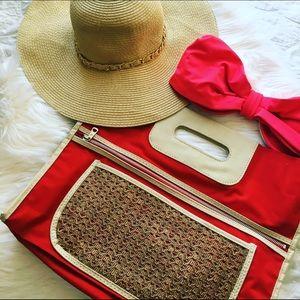 Authentic Original Vintage Style Handbags - Summer straw clutch!