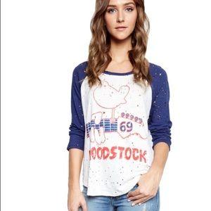 Lauren Moshi Tops - Lauren Moshi Maglan Woodstock Tee NWT