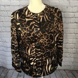 Peck and Peck animal print Blazer jacket