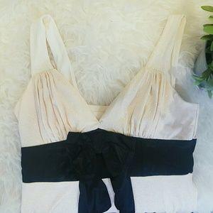 Speechless Dresses & Skirts - SPEECHLESS cream and black glitter evening dress