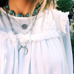 •Crescent Three Layer Necklace•