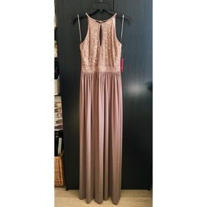 d70afd2f593 Morgan & Co. Dresses | Lace Keyhole Tie Back Halter Dress | Poshmark