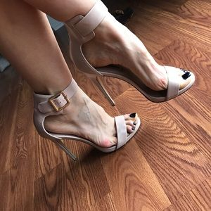 Steve Madden Shoes - Steve Madden leather strap heels in nude