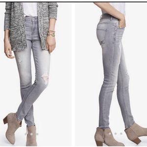 Express high waisted zip jean leggings