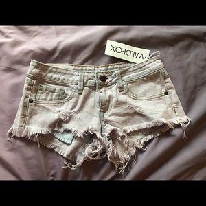 Pants - NEW Wild fox light purple denim shorts sz 25