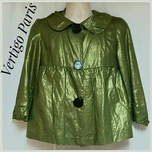Vertigo Paris Tops - *$ALE*Vertigo Paris Jacket Top Metallic Green