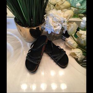 Birkenstock Shoes - Sandals  10 black Svarovski crystals footbed
