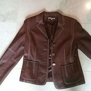 CAbi Jackets & Blazers - Cabi 100% Brown leather Jacket