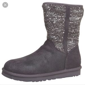 UGG Shoes - ✨HP 2/26✨Ugg Lyla Charcoal Slouch Sequin Boot Sz7