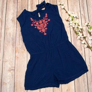 Children's Place Other - [kids] Children's Place Navy Embroidered Romper