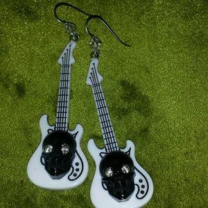 Tarina Tarantino Jewelry - Guitar and Skull Tarina Tarantino earrings