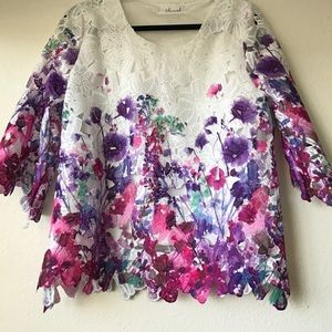 Beautiful floral lace shirt from Chicwish