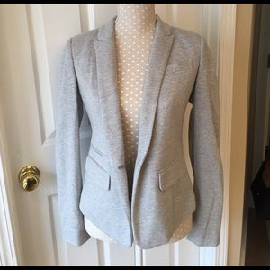 LOFT Gray Cotton Blazer