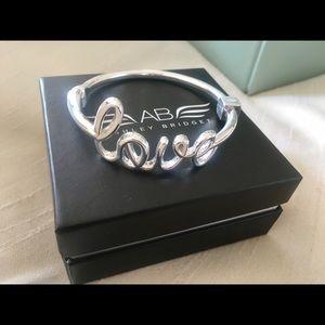 Ashley Bridget Jewelry - Ashley Bridget Silver Signature Love Bangle