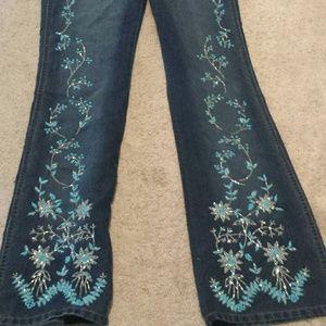 Rampage Denim - Rampage jeans 7 NWOT turquoise silver beading