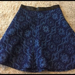 Zara tapestry skirt with faux leather trim