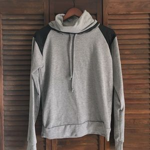 Clone Jackets & Blazers - Grey Cowlneck Hoodie