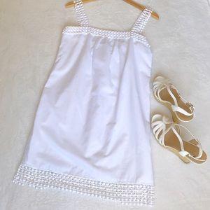 Loeffler Randall Dresses & Skirts - Loeffler Randall White Shift Sleeveless Sundress