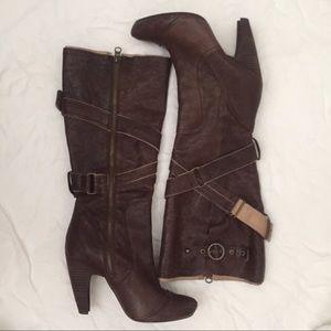 Seychelles Shoes - Seychelles Harness Knee High Heeled Boots 6