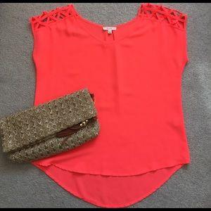 Tops - EM | neon orange top