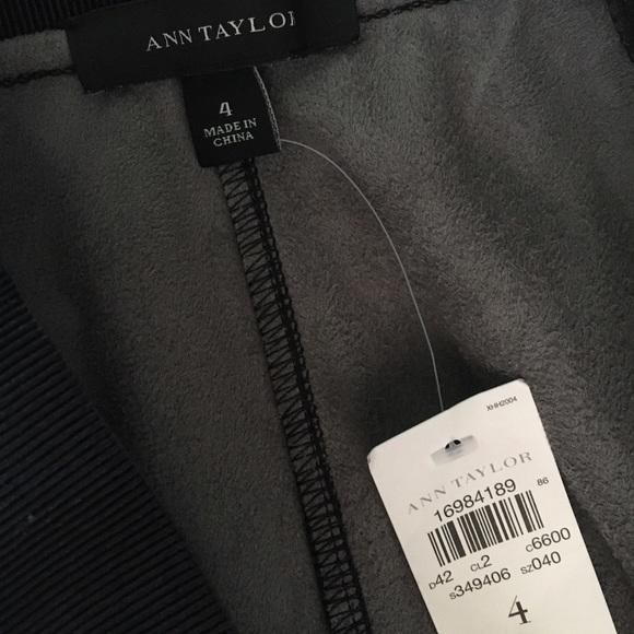 Ann Taylor Pants - NEW Ann Taylor black faux leather leggings pants 4