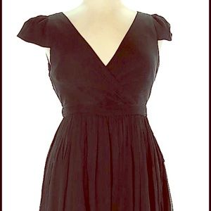 J.Crew Black Silk Dress