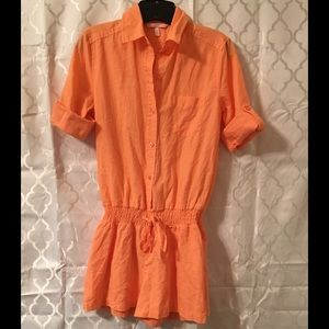 Victoria's Secret Pants - Victoria's Secret Orange/Peach Romper Size 0