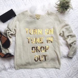 Wildfox Sweaters - •Wildfox 'Turn On, Tune In, Drop Out' Sweater•