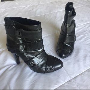 Miss Sixty Shoes - Miss Sixty Black Leather Ankle Boots!