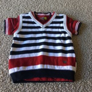 Petit Lem Other - Baby boy sweater vest with tee size 6 months