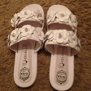 Jeffrey Campbell Shoes - Jeffrey Campbell leather floral detail sandals