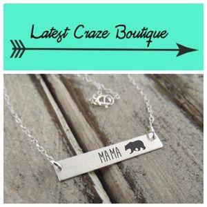 Silver Mama Bear Necklace