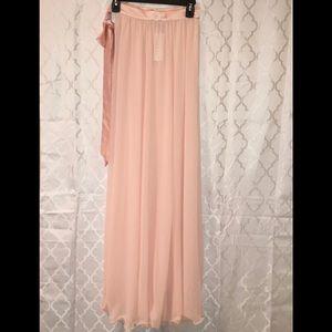 Lioness Dresses & Skirts - Lioness Blush Pink Flowy Maxi Skirt XS