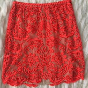 Anthropologie Dresses & Skirts - Anthropologie Embroidered Lace Pencil Skirt