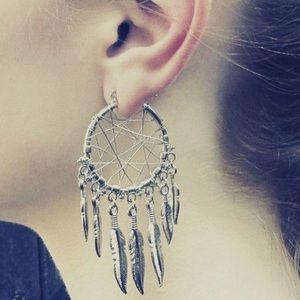 Free People Jewelry - Aztec Boho Dream Catcher Earrings