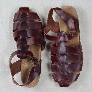 Rockport Shoes - Rockport Leather Saltwater Sandals