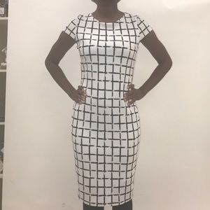 Dresses & Skirts - Black and White Fitted Dress