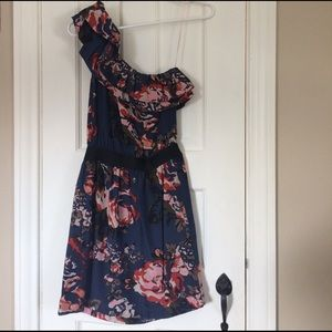 Eight Sixty Dresses & Skirts - floral one shoulder dress