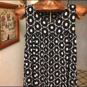 Black and White Mini Dress-NICE