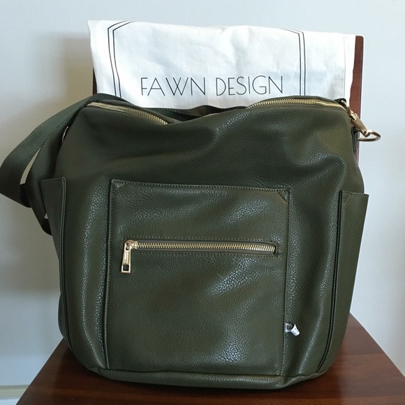 0e98ba6e582f Fawn Design Handbags - Fawn Design Olive Green diaper bag backpack