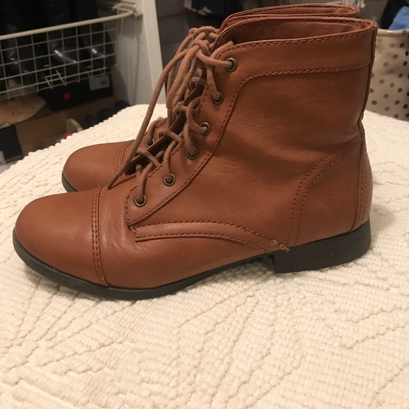 Forever 21 Shoes | Camel Combat Boots