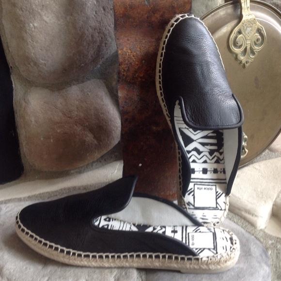 c298677864b 🍃💕HP Dolce Vita Leather Slip On Mule Espadrille