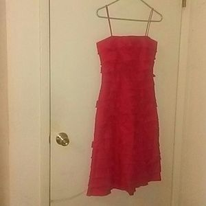 Red tiered dress with spaghetti straps from jcrew