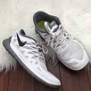 Nike Shoes -   Nike   White and Gray Free Run 5.0 Sneakers