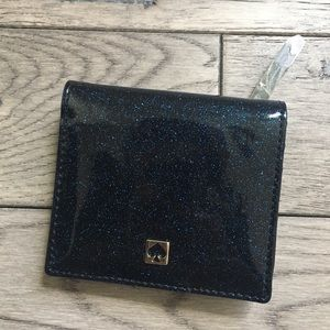 Kate Spade Small Blue Glitter Wallet