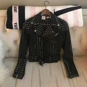 Parasuco Jackets & Blazers - Parasuco Denim Cult Studded Jacket, S
