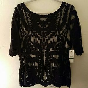 Laundry by Shelli Segal Tops - ☆☆ SALE☆☆  NWT Laundry  Black Lace Top
