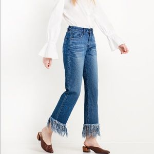 Pixie Market Denim - FINAL PRICE NWT Pixie Market Fringe Hem Jeans